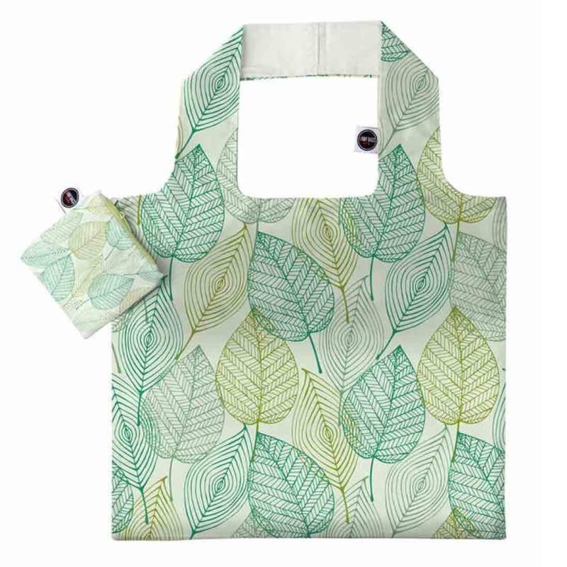ANYBAGS shoppingkasse Green Leaves