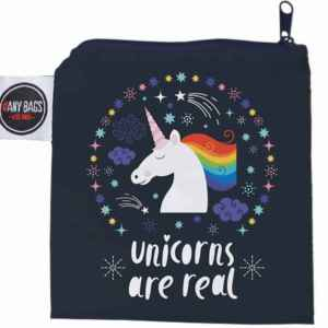 ANYBAGS shoppingkasse Black Unicorn - förvaringspåse