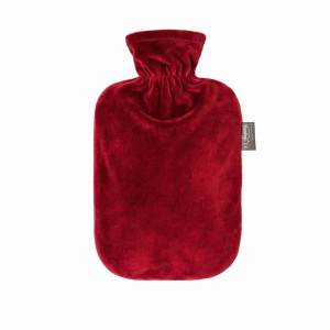 Fashy värmeflaska Plush bordeux - 2 liter
