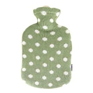 Sänger värmeflaska Dots Green- 2 l naturgummi