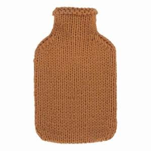 Fashy värmeflaska Caramel - 2 l med stickat fodral