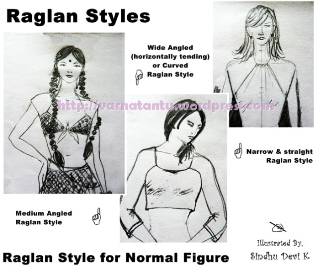 Raglan Styles for Normal Shoulder