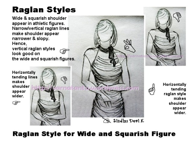 Vertical Raglan Style for Wide & Squarish Shoulder