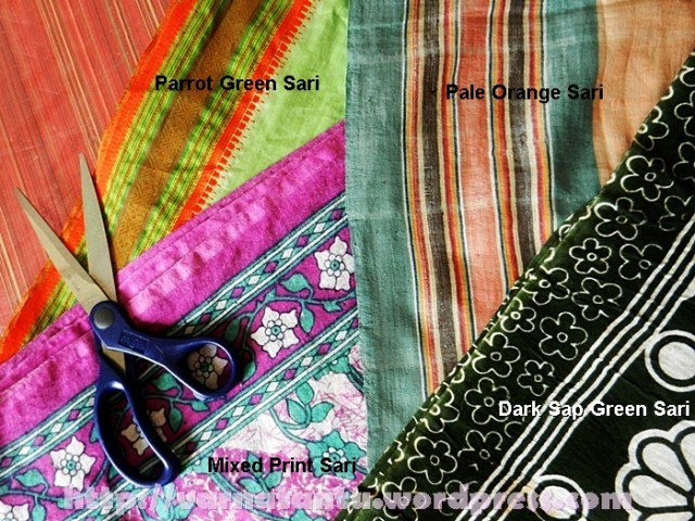 Saris for Upcycling and Quilting