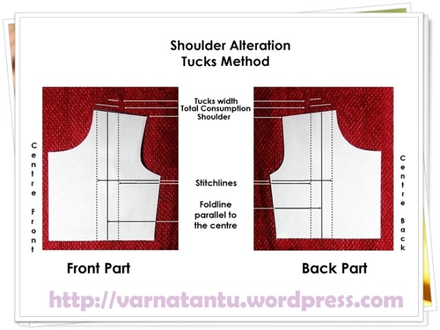 Pattern - Shoulder Alteration - Off centred Single Tuck