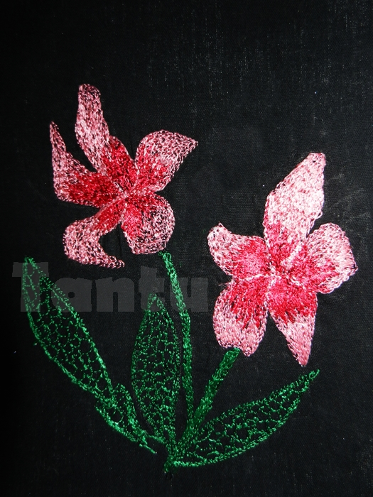 Machine Embroidered Flowers