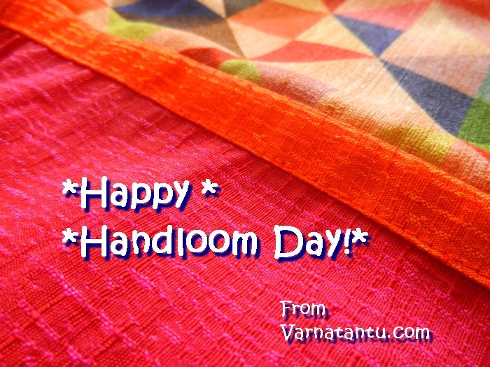 Wishing all a very Happy Handloom day! This photo card is with traditionsl handloom kurta from Ichchaa in its background.