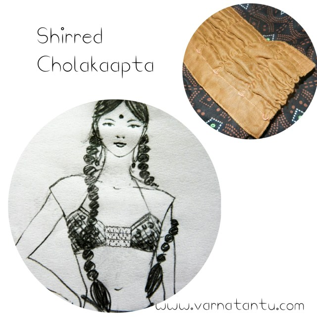 Shirred Cholakaapta with illustration