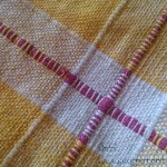 A handloom Bedsheet Texture photographed in ASUS ZenPad
