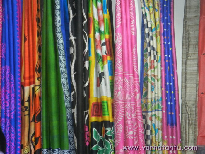 Printed Silk Saris