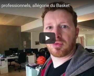 Partages professionnels, allégorie du Basket