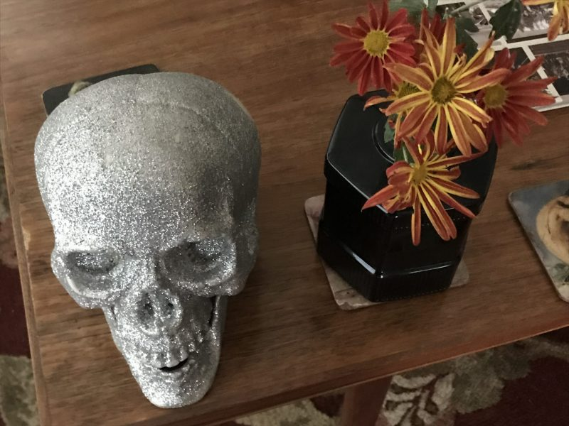 halloween culver city skull and flowers
