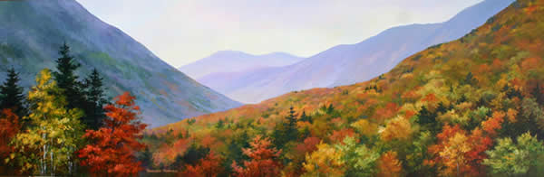 Original Acrylic Panorama Paintings of landscape and