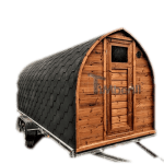 Sauna Igloo A Botte All'aperto Con Caminetto E Forno A Legna (1)