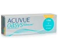 Johnson & Johnson Acuvue Oasys 1-Day with HydraLuxe for Astigmatism (30 φακοί) Ημερήσιοι Μυωπίας Υπερμετρωπίας Αστιγματικοί