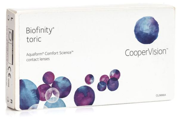 Biofinity Toric CooperVision (3 lentile)