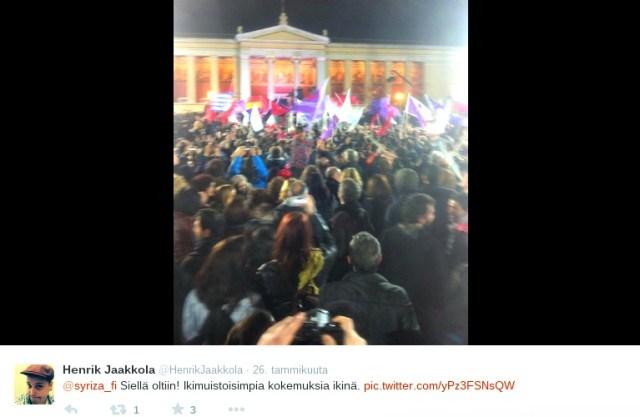 Henrik Jaakkola raportoi suoraan Ateenasta Kreikan vaaleista Twitterin välityksellä.
