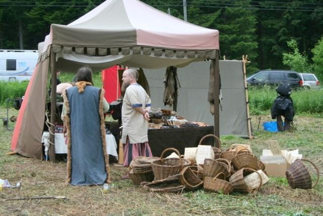 Muinaismarkkinoita vietettiin ensimmäistä kertaa Kolin kylässä heinäkuun alussa.