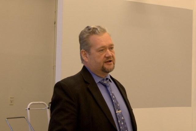 Kansanedustaja Jari Myllykoski puhui lokakuun lopulla Työväenmuseo Werstaassa, Tampereella järjestyssä Pirkanmaan ay-päivässä.
