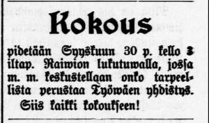 Tyrvään Sanomat 28.10.1906