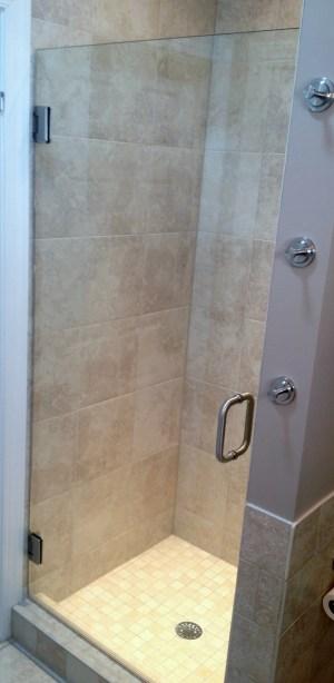 Single Frameless Shower Door Richmond Virginia