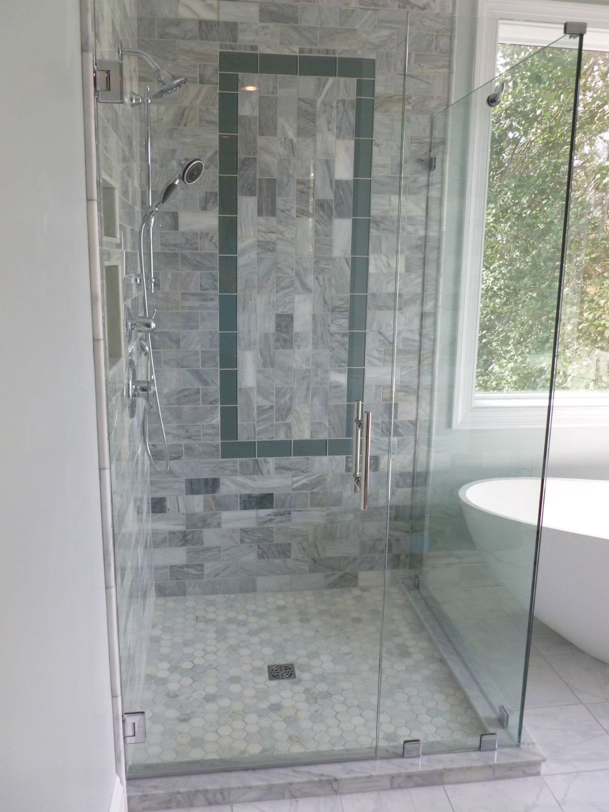 Cleveland Corner Shower 1200 We Installed This Frameless Glass Shower  Enclosure ...