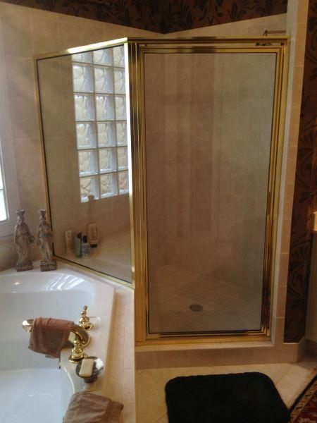 Framed Shower Door Before Removal Wyndham Subdivision Glen Allen Va