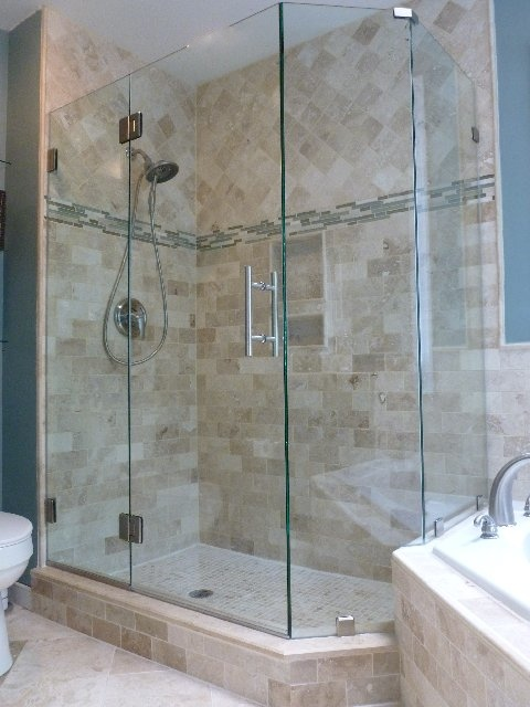 Frameless Shower Door No Header Wood Lake Subdivision Richmond Va