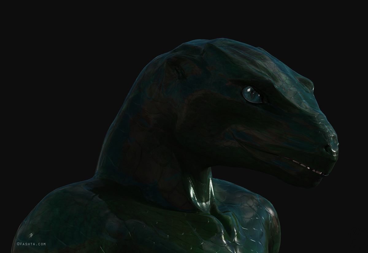 Green Reptilian