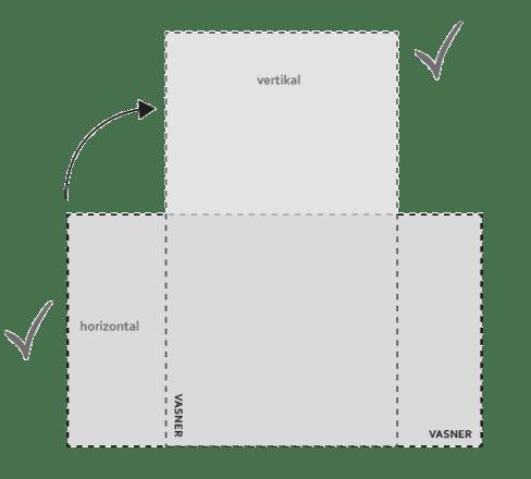 Glasheizung kann horizontal oder vertikal angebracht werden