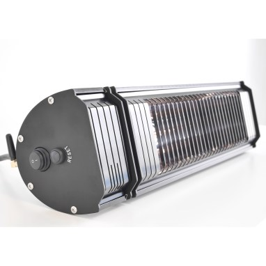 Side view of the Appino 20 infrared patio heater with bluetooth app control turned off