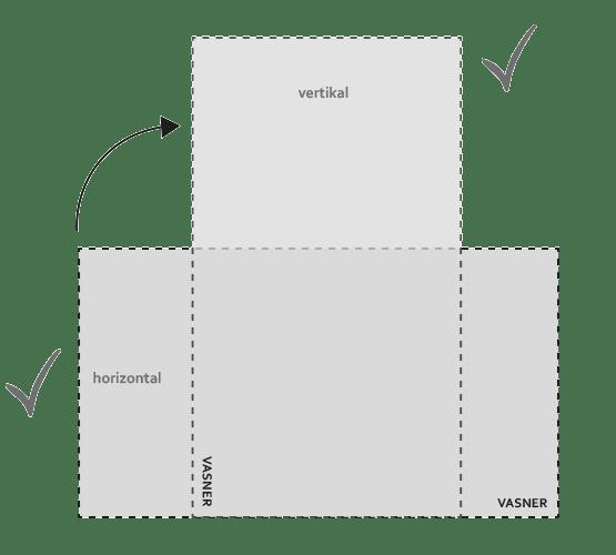 Infrarotheizung vertikal / horizontal befestigen