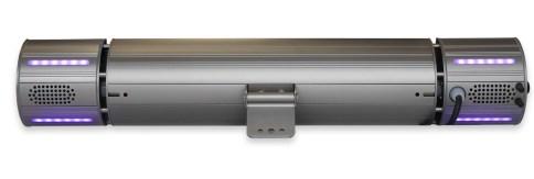 Rückseite in GREY Appino BEATZZ- Infrarot-Heizstrahler Bluetooth mit LED Licht und Musik-Lautsprecher