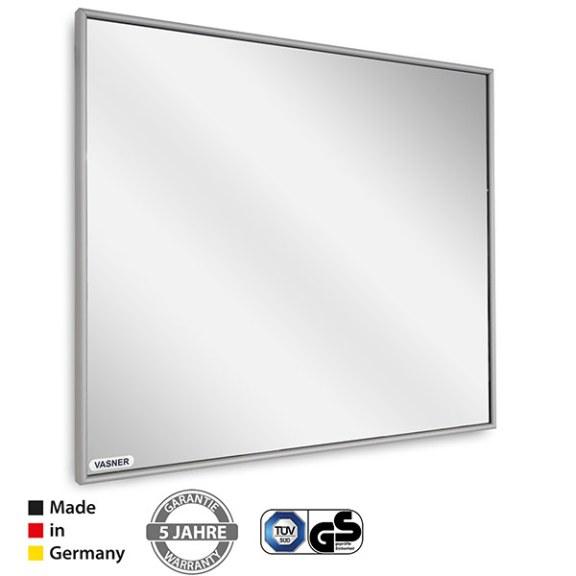 Perfekt für Ihr Badezimmer, resistent gegen Spritzwasser - Die VASNER Zipris Infrarot Spiegelheizung mit Rahmen