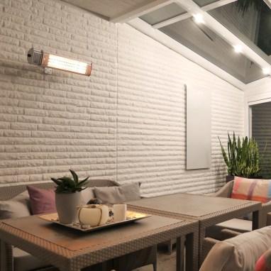 Sichere Wärme mit einem Infrarot Wärmestrahler an der Wand