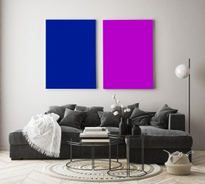 Farbige Infrarotheizung in leuchtenden Farben als dekoratives Highlight