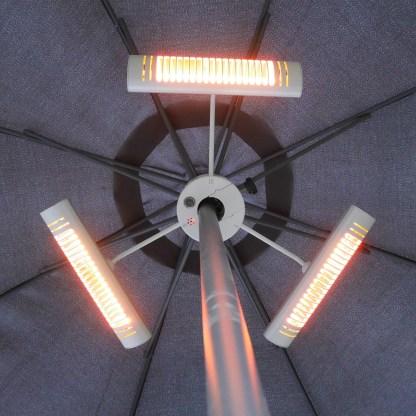 Heizstrahler Sonnenschirm Silber Ultra Low Glare