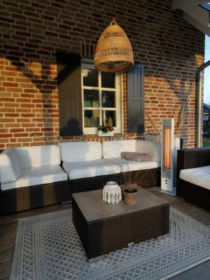 Infrarot Heizstrahler Standgerät Lounge Tisch