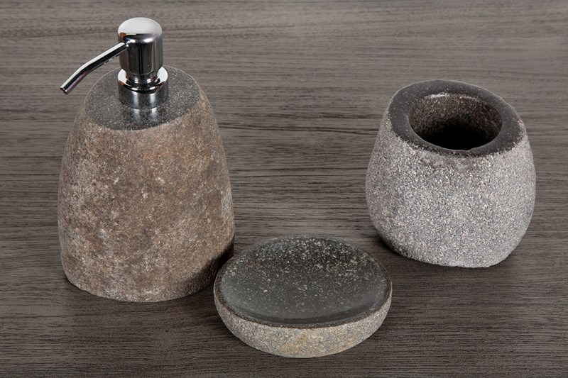 accessoires pour salle de bain en bois