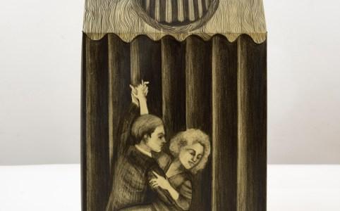 Homenaje a Gardel, Sculpture Graphite on paper, wax, 2017, 50 x 30 x 15 cm Frieze London bei David Nolan Gallery