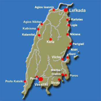 Vassiliki and Lefkada Weather and Maps