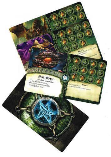 Cartas de Primigenio... el big Boss de este juego.