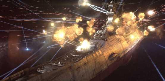 El Yamato repartiendo leña.