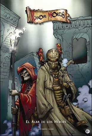 El cómic con los personajes del juego de cartas.