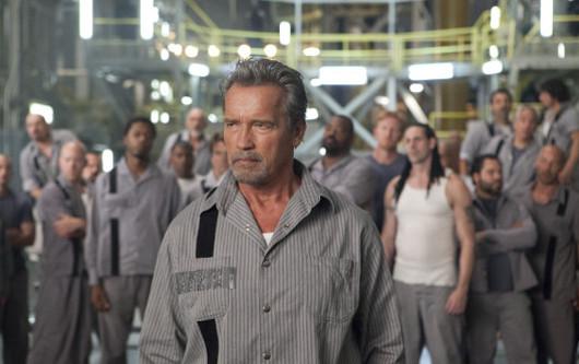 Arnold Schwarzenegger recién levantao