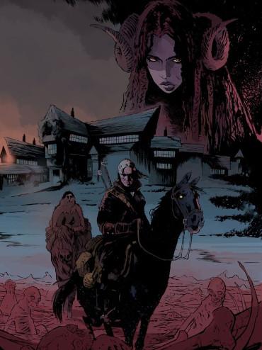 Geralt de Rivia montando en jaco