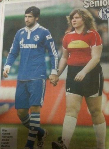 Niños alemanes más grandes que los futbolistas