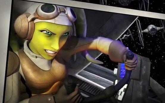 Hera pilotando como las grandes.