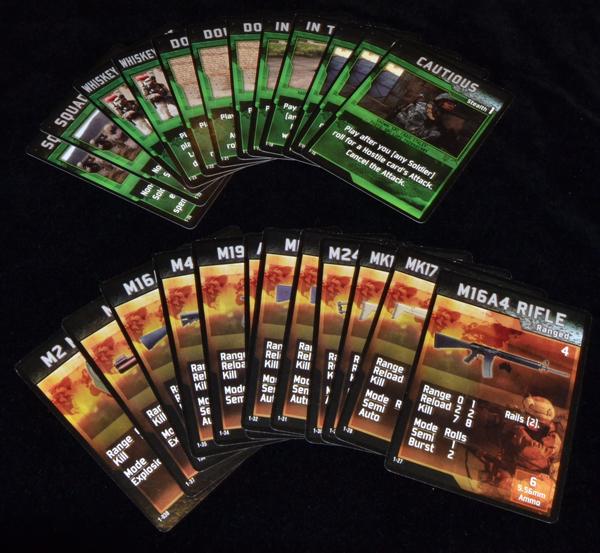 Armas nuevas y cartas para el mazo de acción.