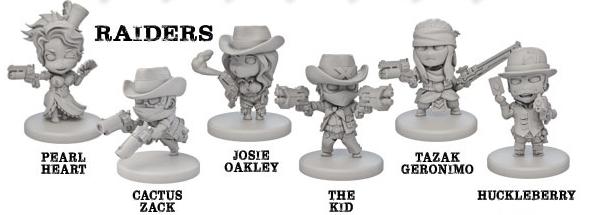 Las miniaturas de nuestros personajes.